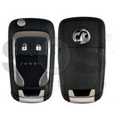 OEM Flip Key for Vauxhall  Adam Brown Buttons:2 / Frequency: 433MHz / Transponder: PCF7937/ HITAG2/ID46 / Blade signature: HU100 / Immobiliser System: BCM / Part No: 13401818 VALEO