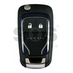 OEM Flip Key for Vauxhall  Adam Dark Blue Buttons:2 / Frequency: 433MHz / Transponder: PCF7937/ HITAG2/ID46 / Blade signature: HU100 / Immobiliser System: BCM / Part No:  13401818 VALEO