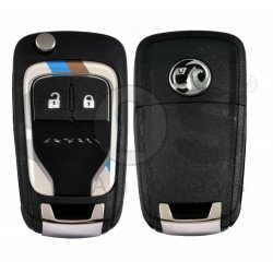 OEM Flip Key for Vauxhall  Adam Colorful Buttons:2 / Frequency: 433MHz / Transponder: PCF7937/ HITAG2/ID46 / Blade signature: HU100 / Immobiliser System: BCM / Part No: 13301085