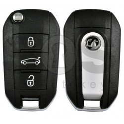 OEM Flip Key for Vauxhall Crossland/ Grandland 2018+ Buttons: 3 / Frequency: 434MHz / Transponder: HITAG AES/ Blade signature: HU83 / Part No : 98 230 125 77/ White