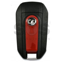 OEM Flip Key for Vauxhall Crossland/ Grandland 2018+ Buttons: 3 / Frequency: 434MHz / Transponder: HITAG AES/ Blade signature: HU83 / Part No : 98 203 116 77/ Red