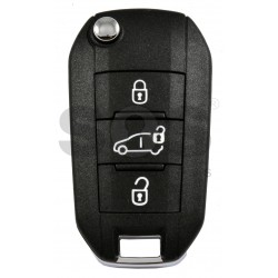 OEM Flip Key for Vauxhall Vivaro 2019+ Buttons: 3 / Frequency: 434MHz / Transponder: HITAG AES/ Blade signature: HU83 / Part No : 6 232 270 80