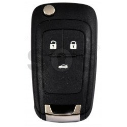 OEM Flip Key for Vauxhall  Buttons:3 / Frequency: 433MHz / Transponder:  TYPEE/ID46/HITAG 2 / Blade signature: HU100 / Immobiliser System: BCM / Part No: GM13500461 / Keyless Go
