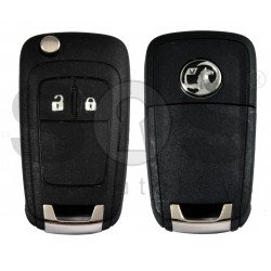 OEM Flip Key for Vauxhall  Buttons:2 / Frequency: 433MHz / Transponder: PCF7937  / Blade signature: HU100 / Immobiliser System: BCM / Part No: GM13500233 / Keyless Go