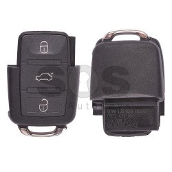 Flip Key for Skoda Buttons:3 / Frequency:433MHz / Transponder:ID48/ID48CAN / Blade signature:HU66 / Immobiliser System: Dashboard / Part No: 1J0959753AH (Remote Only)