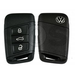 OEM Smart Key for VW Passat B8 Facelift  Buttons:3+1P/ Frequency:315MHz / Transponder:NCP21A2W / Blade signature:HU162T / Immobiliser System:MQB / Part No: 3G0959752B/ Keyless GO