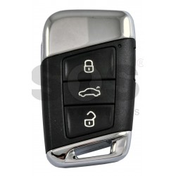 OEM Smart Key for VW 2020+ Buttons:3+1P/ Frequency:315MHz / Transponder:NCP21A2W HITAG PRO / Blade signature:HU162T / Part No: 3G0 959 752 CA/ Keyless GO