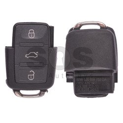 OEM Flip Key for Skoda Fabia Buttons:3 / Frequency:434MHz / Transponder:ID48/ID48 CAN / Blade signature:HU66 / Immobiliser System:Dashboard / Part No:1J0 959 753 DA / (Remote Only)
