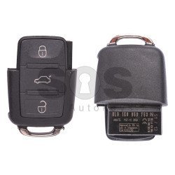OEM Flip Key for Skoda Buttons:2 / Frequency:434MHz / Transponder:ID48/ID48CAN / Blade signature:HU66 / Immobiliser System: Dashboard / Part No: 1J0959753N (Remote Only)