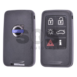 OEM Smart Key for Volvo W Buttons:6 / Frequency:902MHz / Transponder: PCF7953 / 7945 / ID46 VIRGIN / Blade signature:HU101 / Immobiliser System:Smart / Part No: 5WK49226 / Keyless Go
