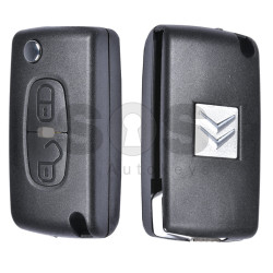 Key Shell (Flip) for Citroen C-crosser Buttons:2 / Blade signature: MIT8 / (With Logo)