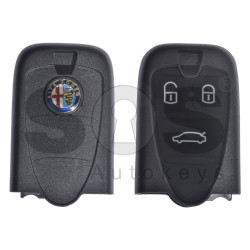 Key Shell (Smart) for Alfa Romeo Buttons:3 / Blade signature: SIP22 / (With Logo) (WITH BATTERY HOLDER)