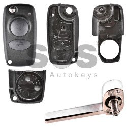 Key Shell (Flip) for Alfa Romeo Buttons:3 / Blade signature: SIP22 / (With Logo) Old Design