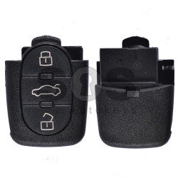 Key Shell (Back Part - Flip) for VAG Buttons:3 / Blade signature: HU66 / Battery:1620 / (Round)