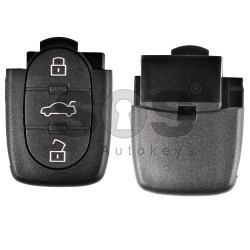 Key Shell (Back Part - Flip) for VAG Buttons:3 / Blade signature:HU66 / Battery: 2032 / (Round)