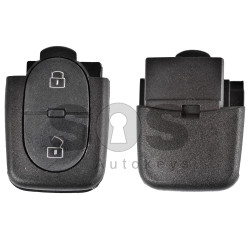 Key Shell (Back Part- Flip) for VAG Buttons:2 / Blade signature: HU66 / Battery: 1620 / (Round)