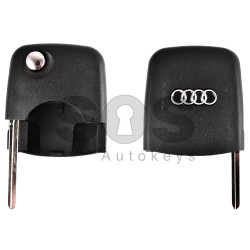 Key Shell (Front Part - Flip) for AUDI Blade signature: HU66 / (Round) / (With Logo)