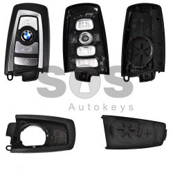 Key Shell (Smart) for BMW F-Series Buttons:4 / Blade signature: HU100R / (With Logo)