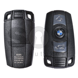 Key Shell (Smart) for BMW E-Series Buttons:3 / Blade signature: HU92 / (With Logo) / (With Blade) / Keyless GO