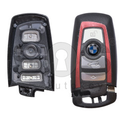 Key Shell (Smart) for BMW F-Series Buttons:4 / Blade signature: HU100R / (With Logo) / (With Blade) / (Red Line)