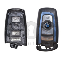 Key Shell (Smart) for BMW F-Series Buttons:4 / Blade signature: HU100R / (With Logo) / (With Blade) / (Blue Line)