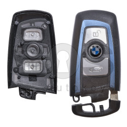 Key Shell (Smart) for BMW F-Series Buttons:3 / Blade signature: HU100R / (With Logo) / (With Blade) / (Blue Line)