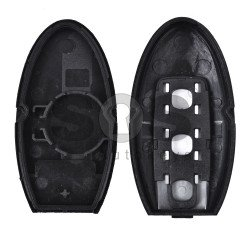 Key Shell (Smart) for Infiniti Buttons:3 / Blade signature: NSN14 / (With Logo) / (With slot)