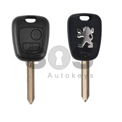 Key Shell (Regular) for Peugeot Buttons:2 / Blade signature: SX9 / (With Logo)
