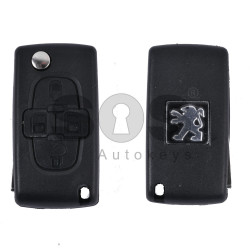Key Shell (Flip) for PSA Buttons:4 / Blade signature: VA2 / (With a battery) / (With Logo)