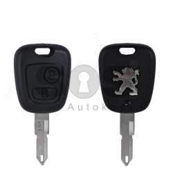 Key Shell (Regular) for Peugeot Buttons:2 / Blade signature: NE72 / (2O6 Facelift) / (With Logo)