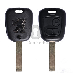 Key Shell (Regular) for Peugeot Buttons:2 / Blade signature: HU83 / (With Logo)