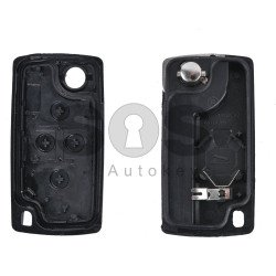 Key Shell (Flip) for PSA Buttons:4 / Blade signature: HU83 / (With a battery) / (With Logo)