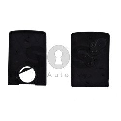 Key Shell (Card) for Ren Clio 4 / Megane 3 Buttons:4 / Blade signature: VA2 / (With Logo)