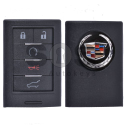 Key Shell (Smart) for Cadillac Buttons:5 / (With Logo) / (SUV)
