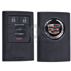 Key Shell (Smart) for Cadillac Buttons:4 / (With Logo)