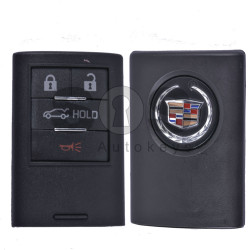 Key Shell (Smart) for Cadillac Buttons:4 / (With Logo) / (HOLD)
