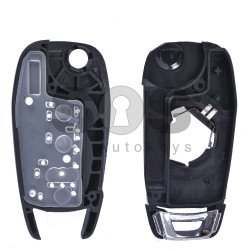 Key Shell (Flip) for Chevrolet Buttons:3 / Blade signature: HU100 / (With Logo) / (New Flip)