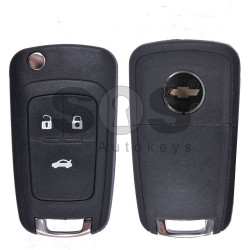 Key Shell (Flip) for Chevrolet Epica Buttons:3 / (With Logo)