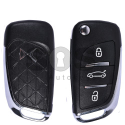 Key Shell (Flip) for Citroen DS4 Buttons:3 / Blade signature: VA2 / (With Logo)