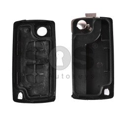 Key Shell (Flip) for PSA Buttons:2 / Blade signature: VA2 / (Without a battery) / (With Logo)