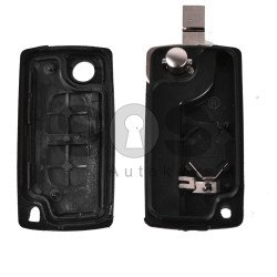 Key Shell (Flip) for PSA Buttons:2 / Blade signature: VA2 / (With a battery) / (With Logo)