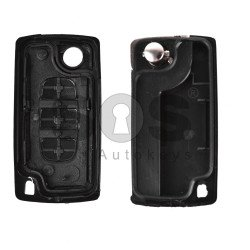 Key Shell (Flip) for PSA Buttons:3 / Blade signature: VA2 / (Without a battery) / (With Logo)