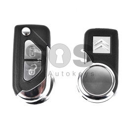 Key Shell (Flip) for Citroen DS3 Buttons:2 / (With Logo)