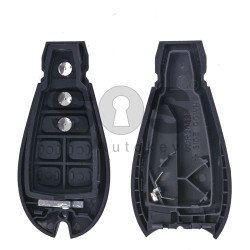 Key Shell (Smart) for Dodge/Jeep Buttons:2+1 / Blade signature: CY24 / (Fish)