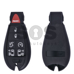 Key Shell (Smart) for Dodge / Jeep (Fish) Buttons:6+1 / Blade signature: CY24