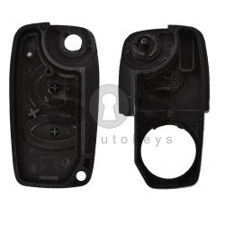 Key Shell (Flip) for Fiat / Lancia / Alfa Romeo Buttons:3 / Blade signature: SIP22 / (With Logo) Old Design