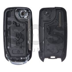 Key Shell (Flip) for Fiat Buttons:3 / Blade signature: SIP22 / (With Logo) / (With Blade)