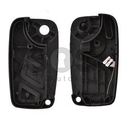 Key Shell (Flip) for Fiat Ducato Buttons:3 / Blade signature: SIP22 / (With Logo)