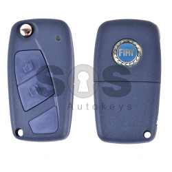Key Shell (Flip) for Fiat Buttons:3 / Blade signature: SIP22 / (With Logo)