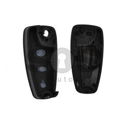 Key Shell (Flip) for Ford Buttons:3 / Blade signature: HU101 / (With Logo)